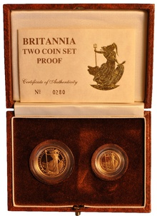 1988 Proof Britannia 2-Coin Set Boxed