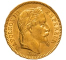 1866 20 French Francs - Napoleon III Laureate Head - BB