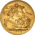 1925 Gold Sovereign - King George V - P NGC MS62