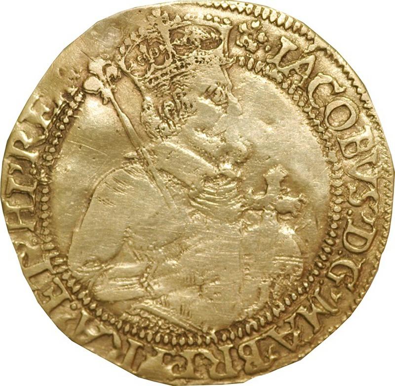 James I Unite Gold Coin - Fine