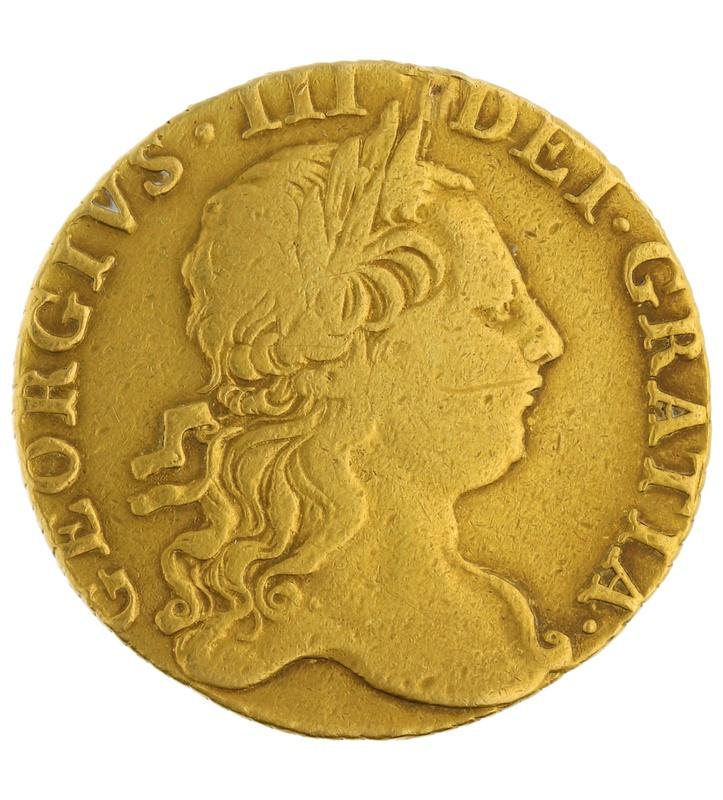 1772 George III Guinea Gold Coin