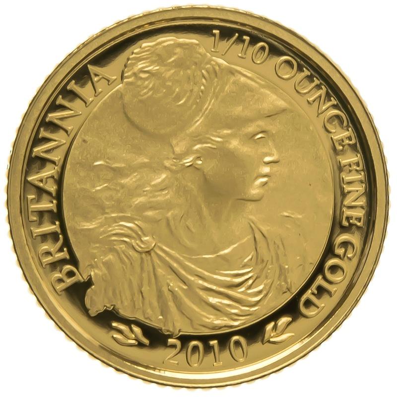 2010 Tenth Ounce Proof Britannia Gold Coin