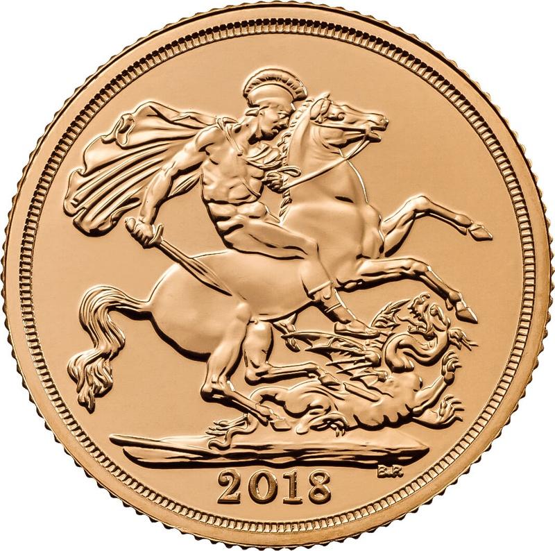2018 Gold Sovereign Elizabeth II Fifth Head