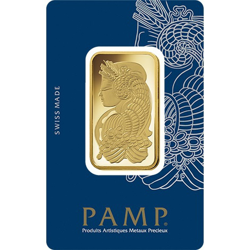 PAMP 1oz Gold Bar Minted
