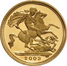 2003 Gold Half Sovereign Elizabeth II Fourth Head Proof