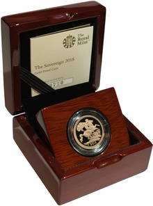 Gold Proof 2018 Sovereign Boxed