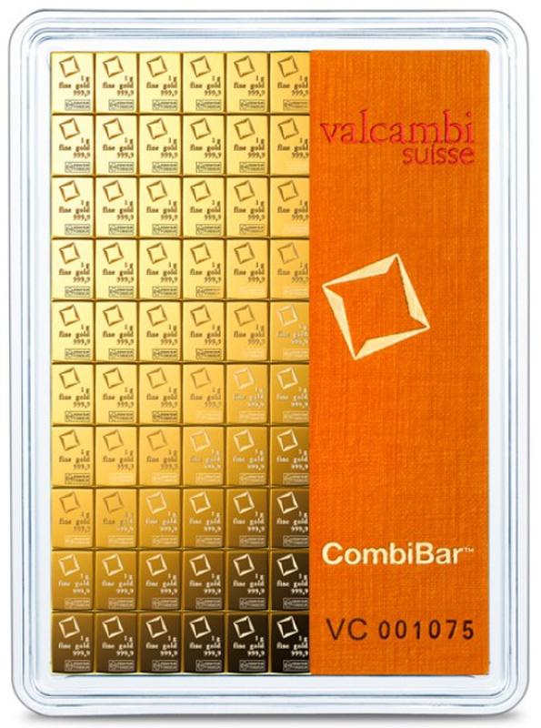 Valcambi CombiBar 100 x 1 Gram Gold Bar