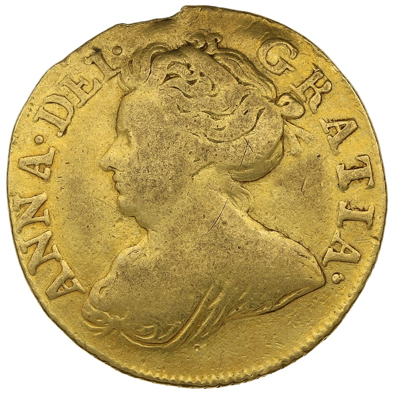 1711 Queen Anne Half Guinea Gold Coin