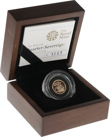 2010 Quarter Sovereign Gold Proof Coin Boxed