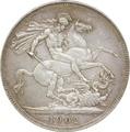 1902 Edward VII Crown - Good Very Fine