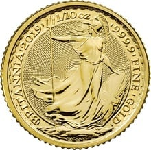 2019 Tenth Ounce Gold Britannia
