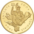 2004 - Gold £5 Proof Crown, Entente Cordiale