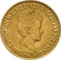 10 Guilders Netherlands Wilhelmina Mature 1911-1917
