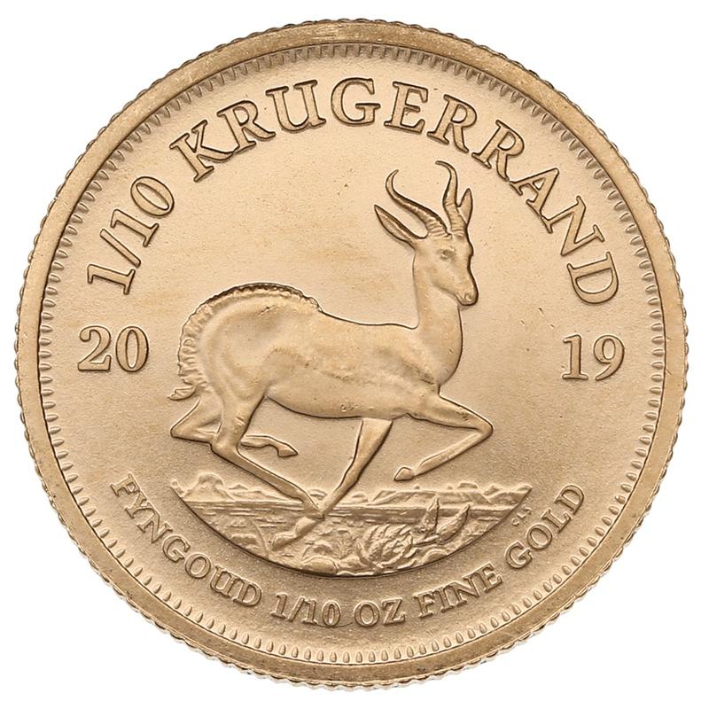 2019 Tenth Ounce Krugerrand Gold Coin