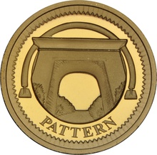 £1 One Pound Proof Gold Coin - Pattern Bridges -2003 Egyptian Arch