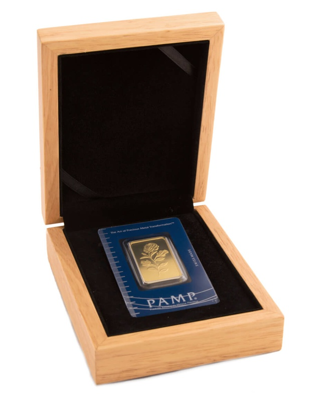 PAMP Rosa 1oz Gold Bar Minted Gift Boxed