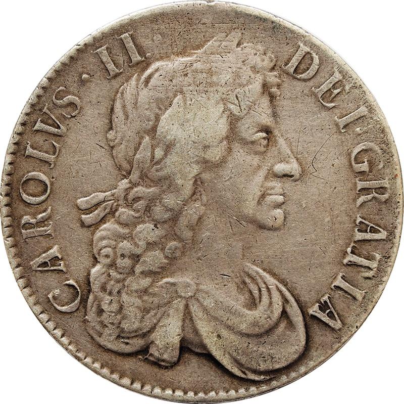 1680 Charles II Silver Crown