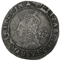 1579 Elizabeth I Silver Sixpence mm Greek Cross