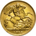 1915 Gold Half Sovereign - King George V - P