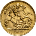 1912 Gold Half Sovereign - King George V - S