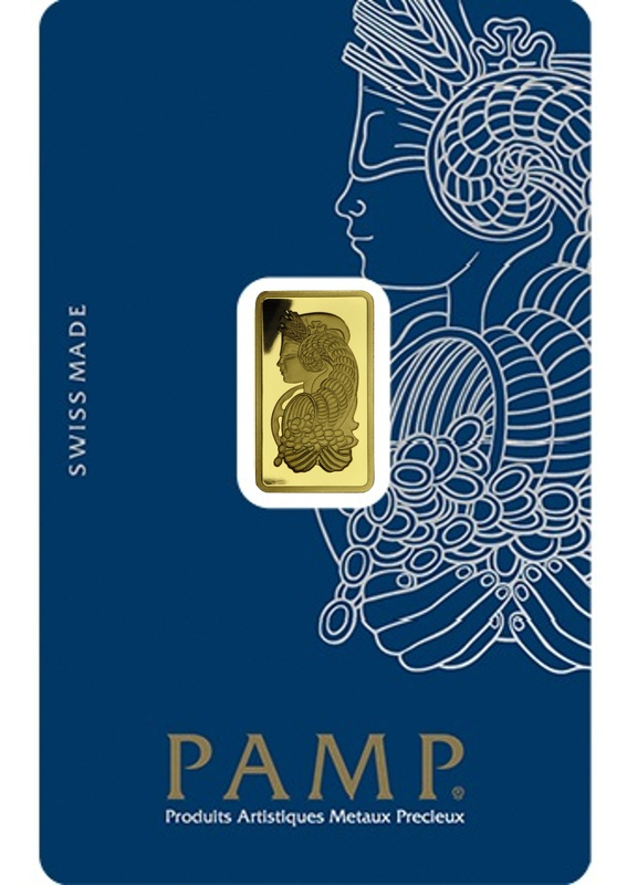 PAMP 2.5 Gram Gold Bar Minted