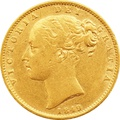 1849 Victoria Young Head Gold Sovereign