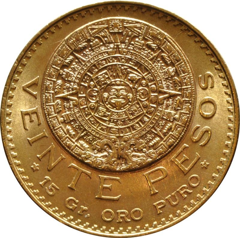 Mexican 20 Veinte Pesos