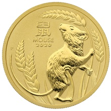 2020 1oz Gold Perth Mint Year of the Mouse Gift Boxed