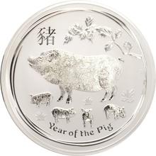 2019 1 Kilo Australian Lunar Year of the Pig Silver Coin