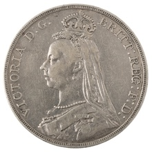 1891 Victoria Jubilee Head Crown - Fine