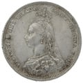 1887 Queen Victoria Silver Milled Shilling - Uncirculated