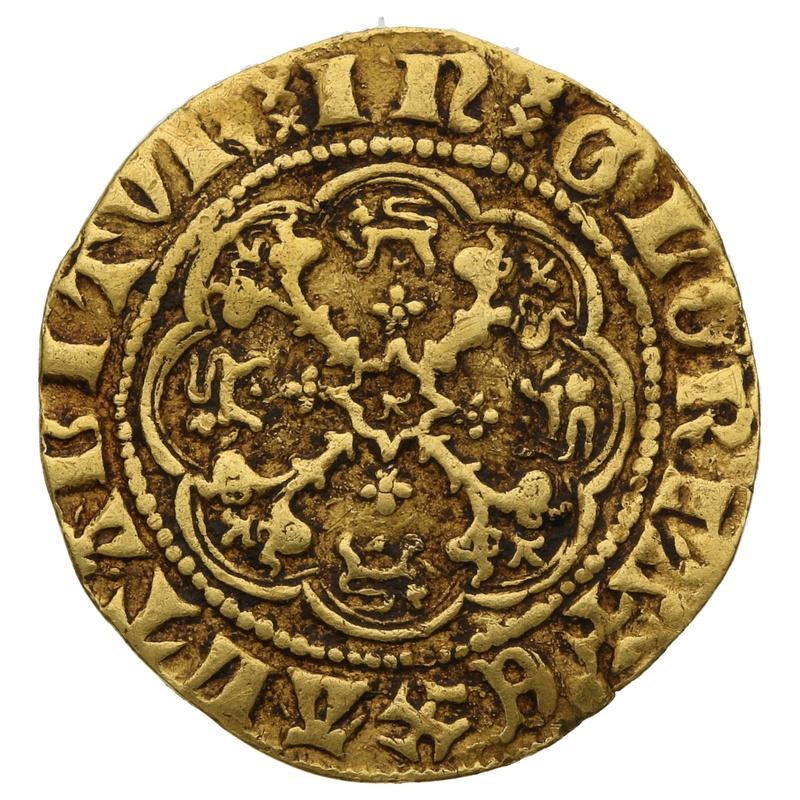 Edward III Gold Quarter Noble - Very Fine