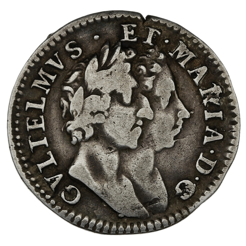 1689 William & Mary Silver Fourpence