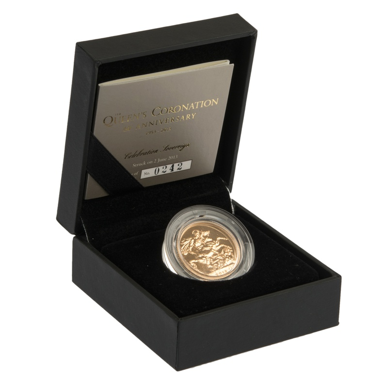 2013 The Queen's Coronation 60th Anniversary Gold Sovereign Boxed