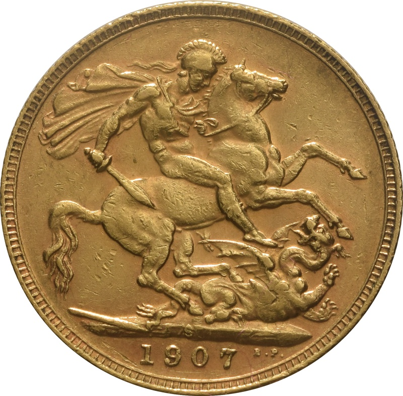 1907 Gold Sovereign - King Edward VII - S