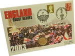 2003 Gold Sovereign First Day Cover Rugby World Cup