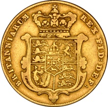 1829 Gold Sovereign - George IV Bare Head NGC VF25