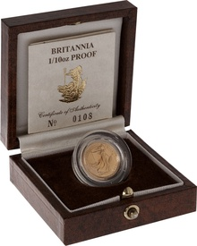 1989 Proof Britannia Tenth Ounce Boxed