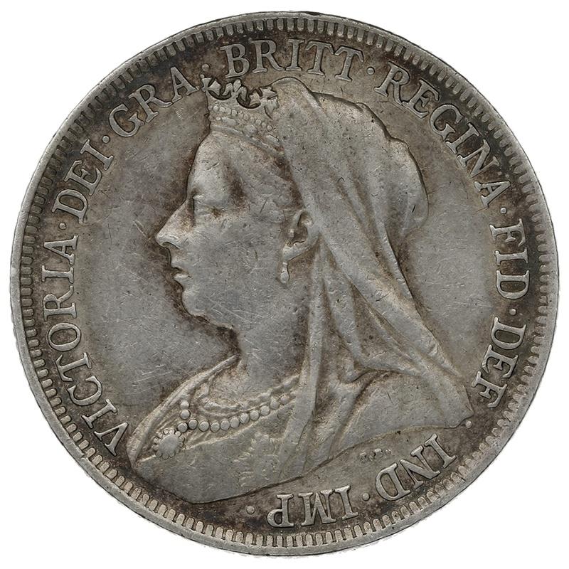 1894 Queen Victoria Silver Shilling
