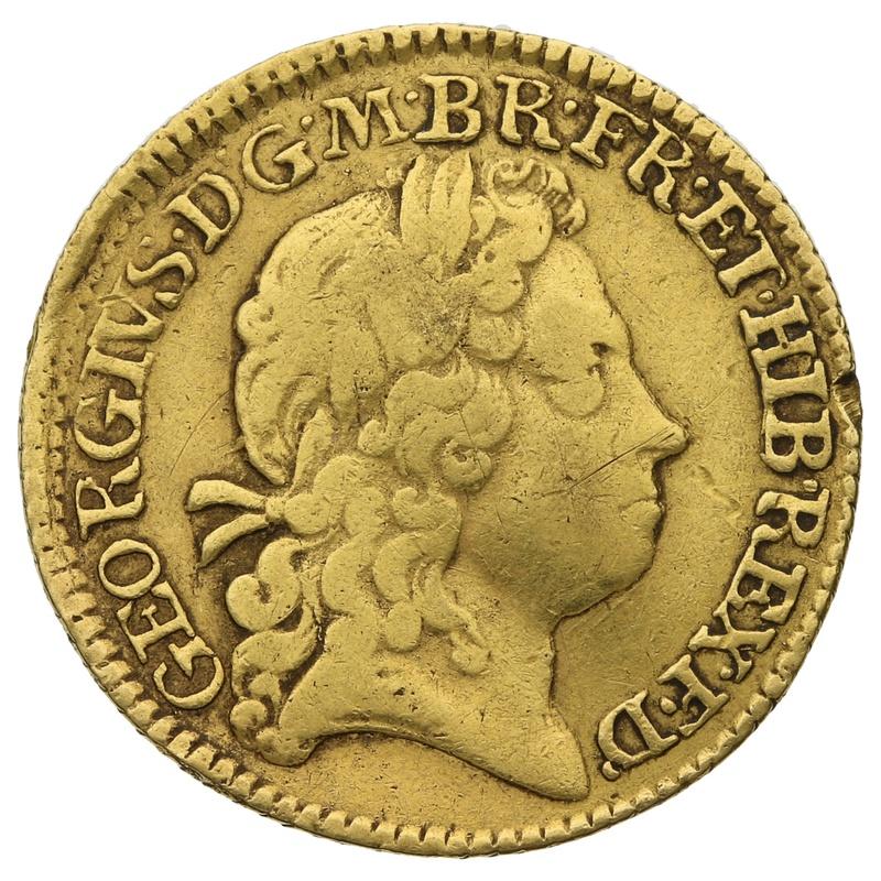 1719 George I Half Guinea Gold Coin