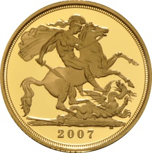 Gold Proof 2007 Half Sovereign Boxed