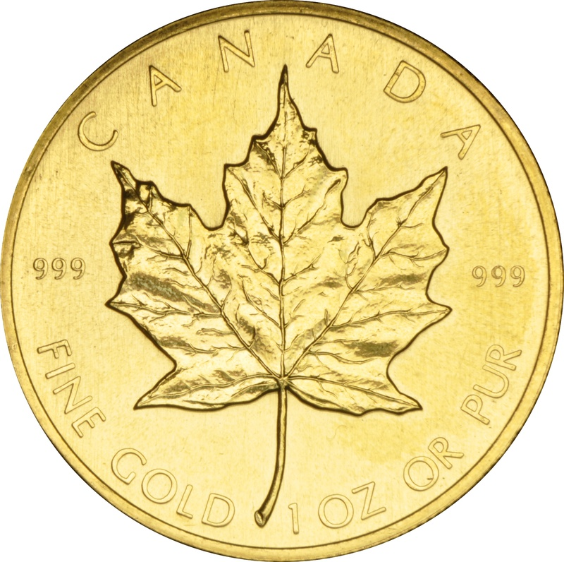 1982 1oz Canadian Maple Gold Coin