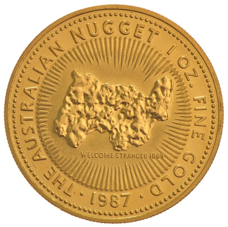 1987 1oz Gold Australian Nugget
