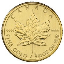 2009 Tenth Ounce Gold Canadian Maple