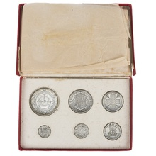 1927 George V Silver Proof Set (6 Coins) in Original Issue Box