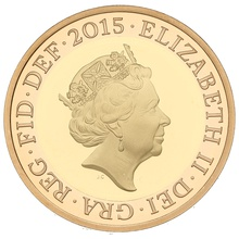 2015 £2 Two Pound Proof Gold Coin Definitive Britannia