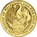 1/4oz Gold Coin, The Red Dragon - Queen's Beast