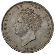 1826 George IV Silver Shilling
