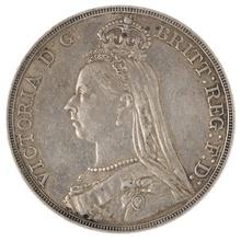 1889 Victoria Jubilee Head Crown - Very Fine