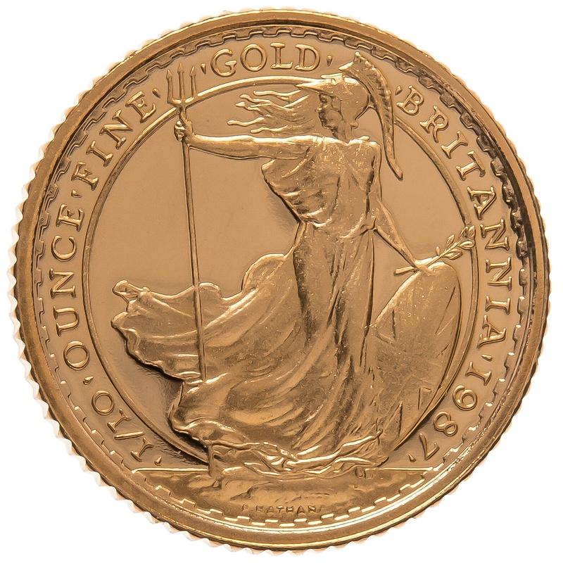 1987 Tenth Ounce Proof Britannia Gold Coin